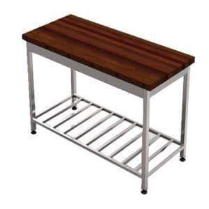 میز کار استیل رویه چوبی